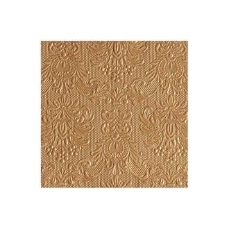 Kaffeservett elegant brons,15-pack