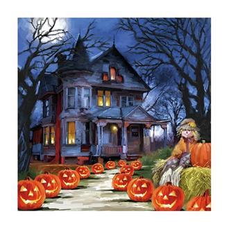 Halloween servetter spökhus, 20-pack