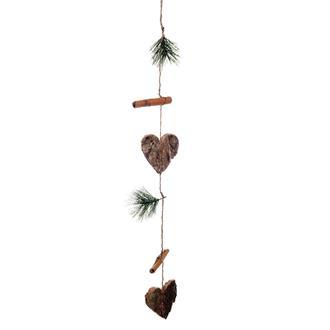 Girlang av hjärtan, tallkvist & kanelstänger, 50 cm