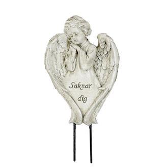 Gravsmyckning - Ängel saknar dig