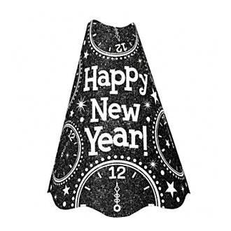 Partyhatt Happy new year Svart