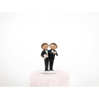 Tårtfigur bröllop Mr & Mr