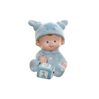 Tårtdekoration Baby ljusblå 2-pack