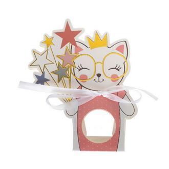 Godispåsar barnkalas katt rosa, 6-pack