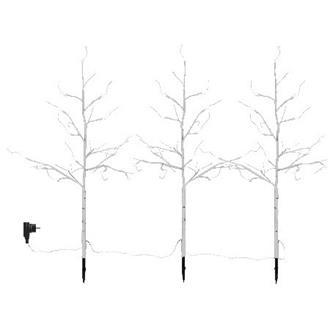 Dekorationsträd med belysning, 3-pack