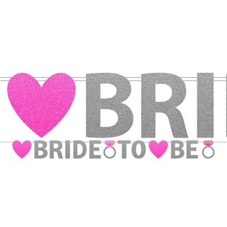Vimpel bride to be glitter