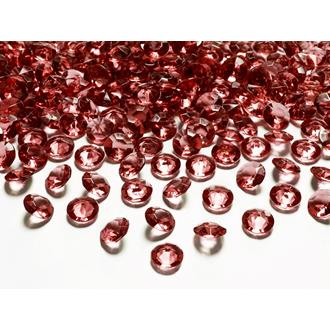 Diamantkonfetti vinröd