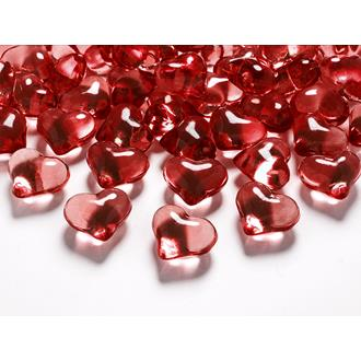 Dekorationshjärtan Röda