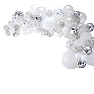 Ballonggirlang kit silver