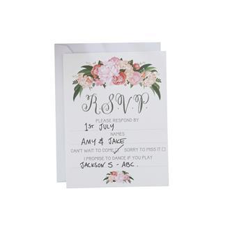Inbjudningskort till bröllopet, 10st
