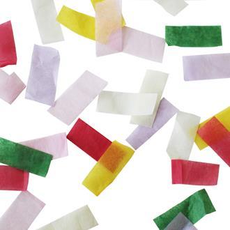 Konfetti blandade färger