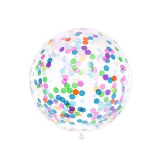 Jätteballong med konfetti 1meter