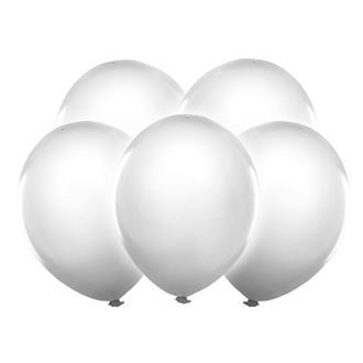 LED-ballonger vita, 5-pack