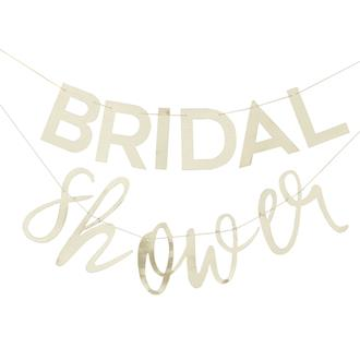 "Vimpel ""Bridal Shower"" möhippa guld"