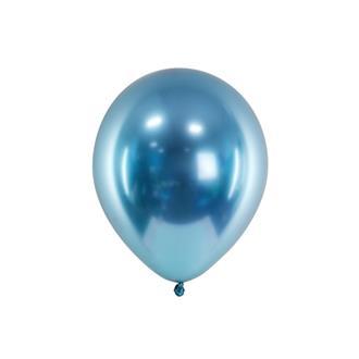 Glansiga ballonger blå 10-pack