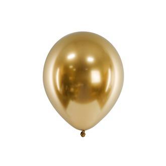 Glansiga ballonger guld 10-pack