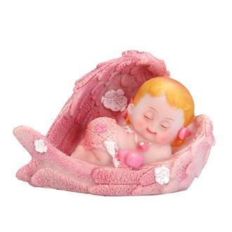 Tårtdekoration baby rosa