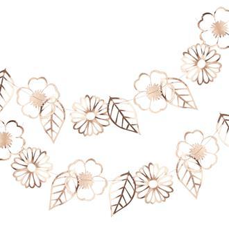 Girlang Blommor Roséguld