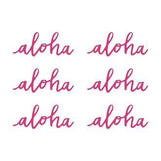 Bordsdekoration Aloha, 6st