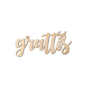 """Girlang i trä """"grattis"""""""