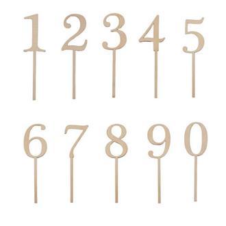 Siffra till tårta/bordsnummer 0 - 9