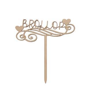 """Tårtdekoration i trä """"Bröllop"""""""