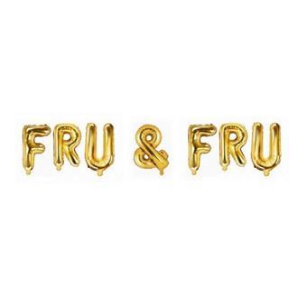 Ballonggirlang FRU & FRU guld