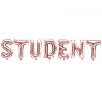Ballonggirlang STUDENT roseguld