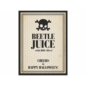 Flasketikett Halloween