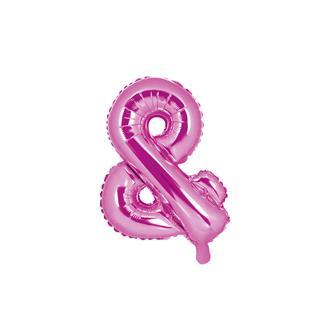 Folieballong & rosa