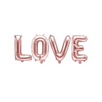 Ballonggirlang LOVE roséguld