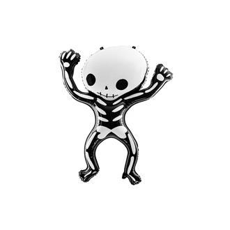 Halloween folieballong skelett