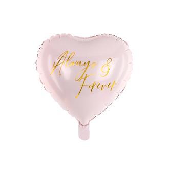 """Folieballong hjärta """"Always & Forever"""""""