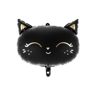 Folieballong svart katt 1 st