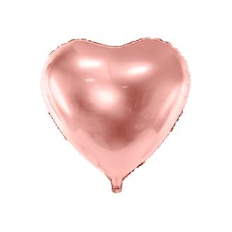 Folieballong hjärta Rosé