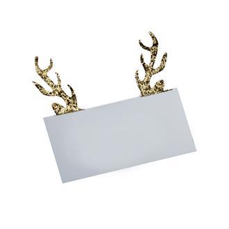 Placeringskort renhorn guld, 10st