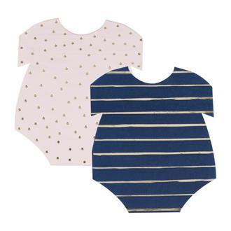 Servetter Baby body rosa/blå, 16-pack