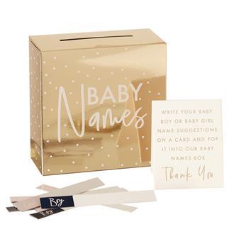 Guld baby namnförslag babyshower