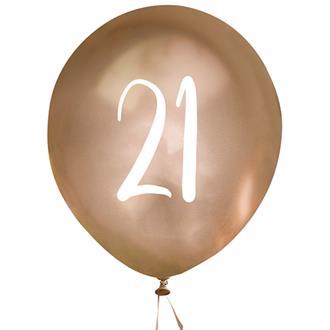 Ballonger Guld 21år, 5st