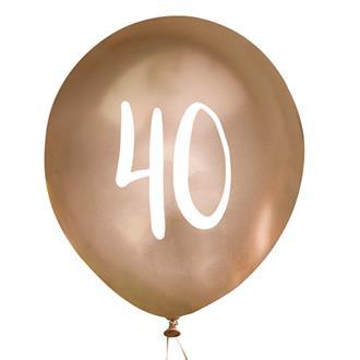 Ballonger Guld 40år, 5st