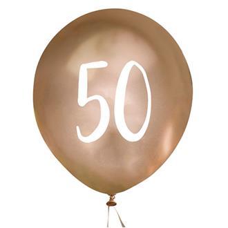 Ballonger Guld 50 år, 5 st