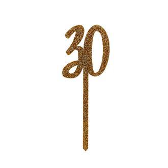 Tårtdekoration guld 30 år
