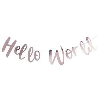 "Girlang Babyshower ""Hello Word"" rosé"