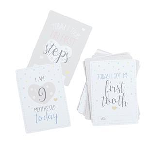 Milestone cards babyns första år, 20-pack