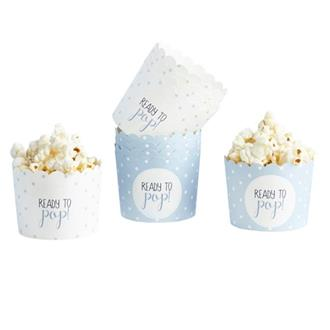 "Muffinsform babyshower ""Ready to pop"" blå, 10-pack"