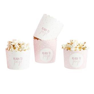 "Muffinsform babyshower ""Ready to pop"" rosa, 10-pack"