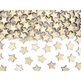Konfetti Stjärnor Trä
