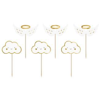 """Cupcake toppers """"Blinka lilla stjärna"""", 6 st"""