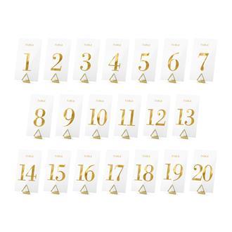 Bordsnummer plexiglas 1-20