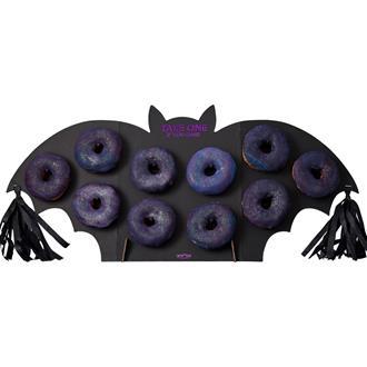 Halloween donutvägg fladdermus